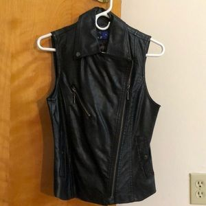 Forever 21 biker chick leather vest